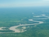 South Luangwa, Zambia, Luangwa River in flood, during the wet, emerald season  © David Rogers
