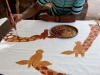 Zambia, tribal textiles, crafts, in Mfuwe