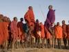 Tanzania, Loliondo, bordering the Serengeti, Maasai dancers. © David Rogers
