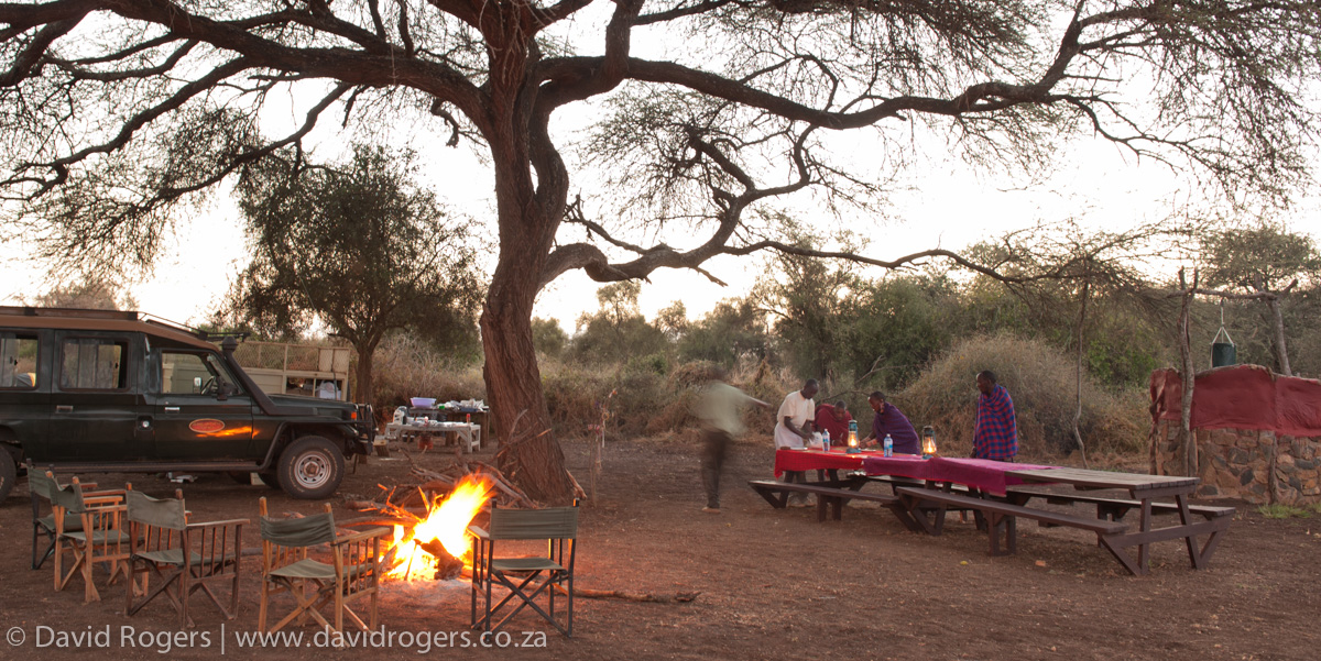 Camping in Selenkay Conservation Area, Kenya