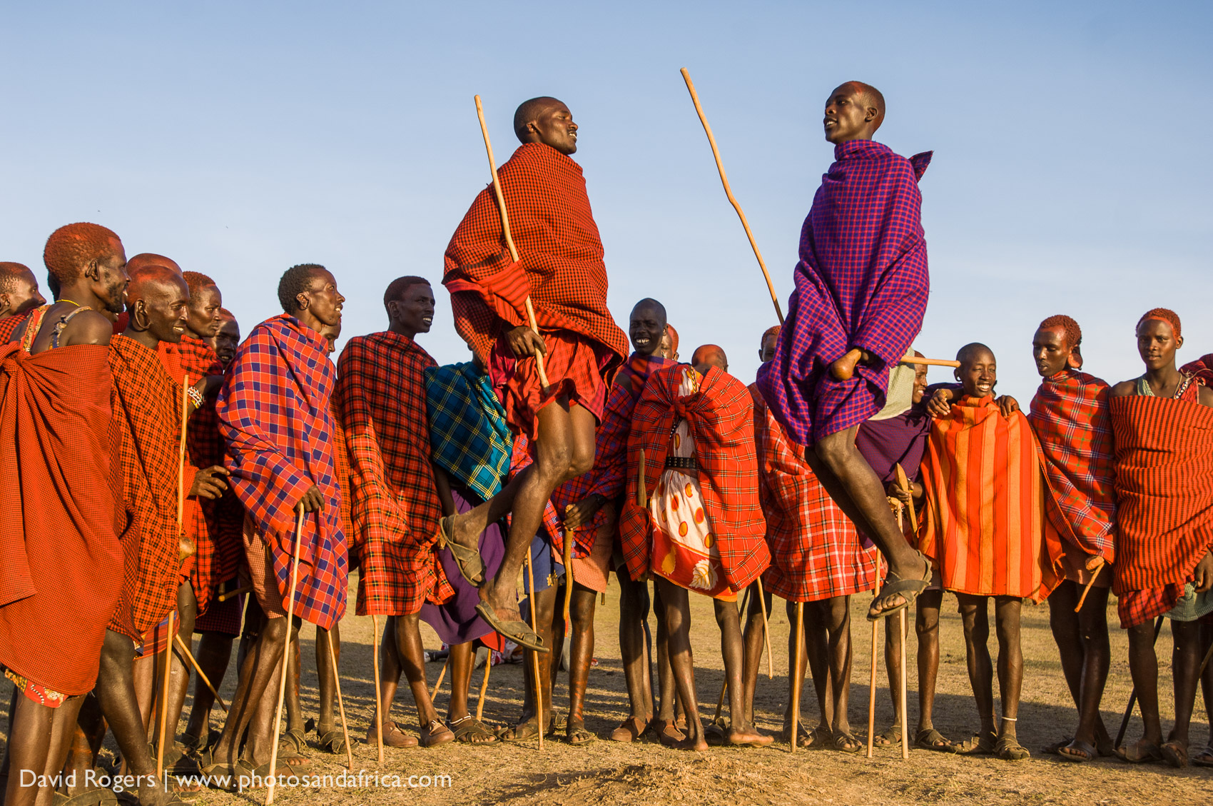 Tanzania, Loliondo, bordering the Serengeti, Maasai dancers. © David Rogers