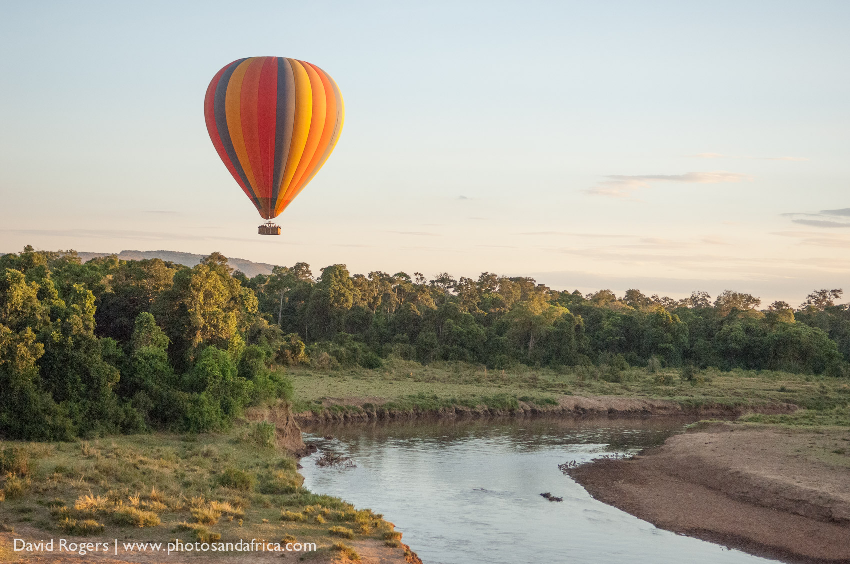 Hot air ballooning over Serengeti