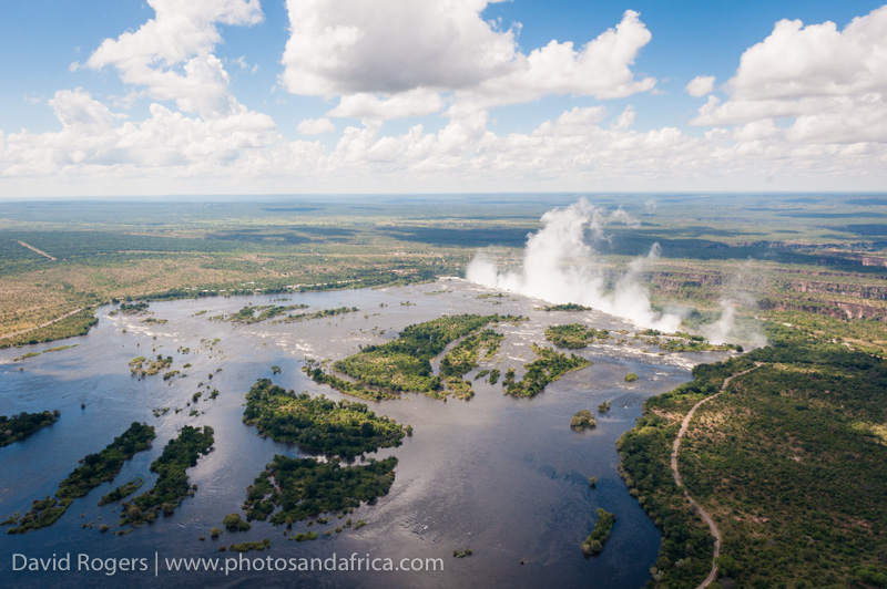 Flight over Vic Falls