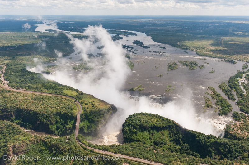 Flight over Vic Falls