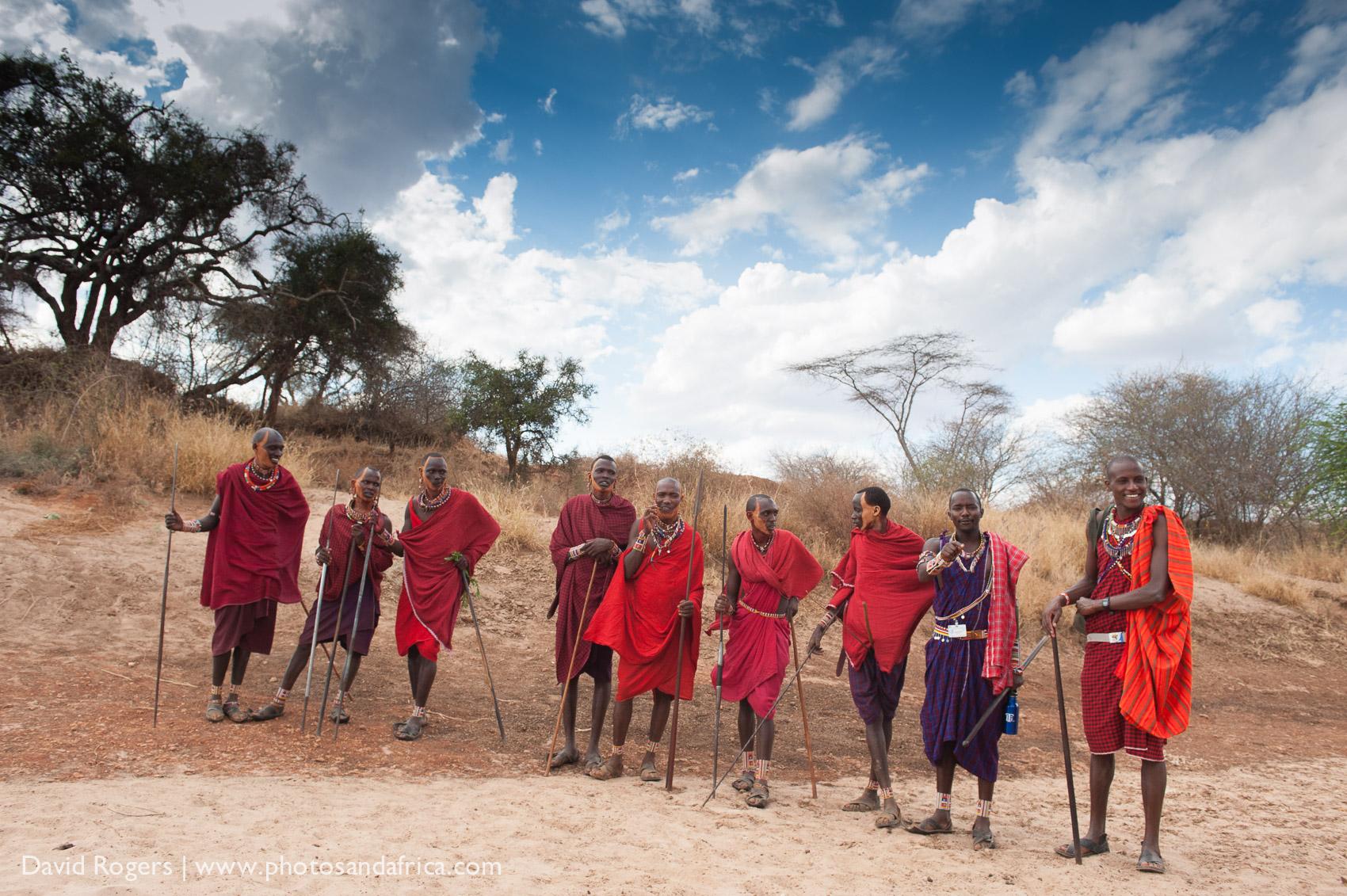 Masai in Selenkay Conservation area, Amboseli