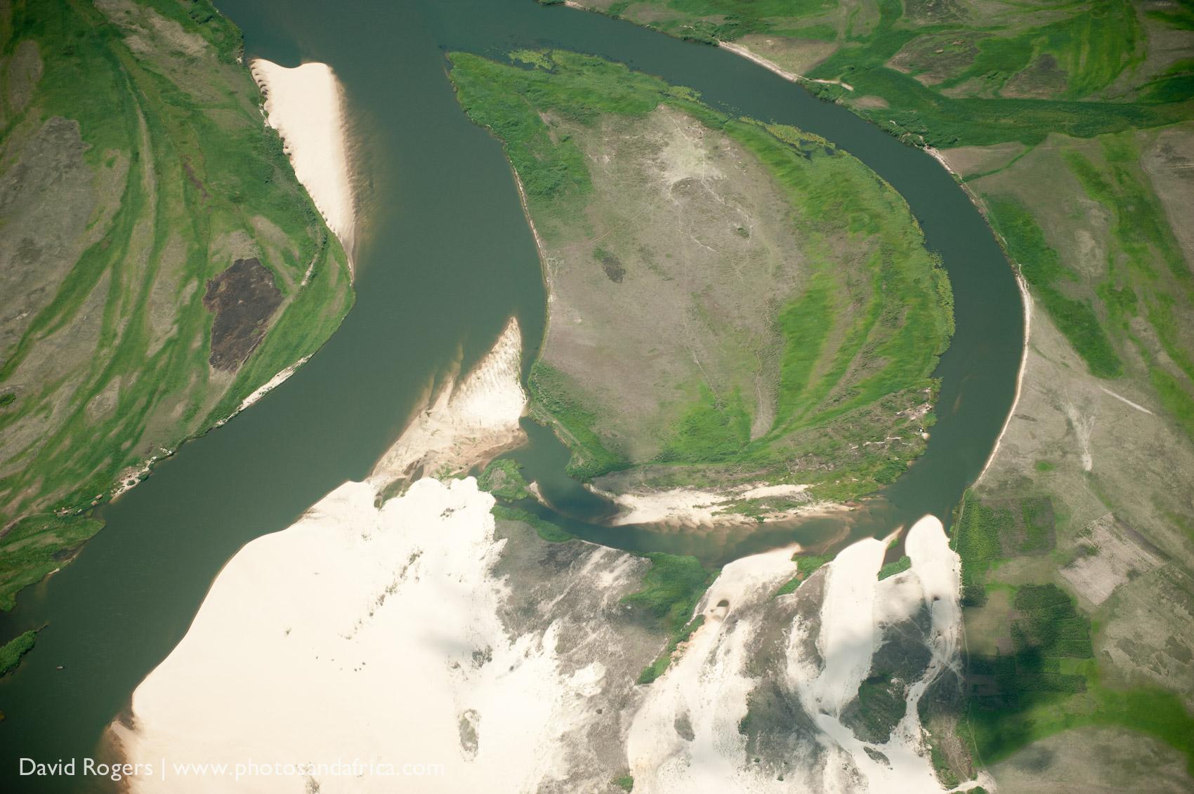 Zambia, Liuwa Plains National Park, view of the Zambezi River floodplain