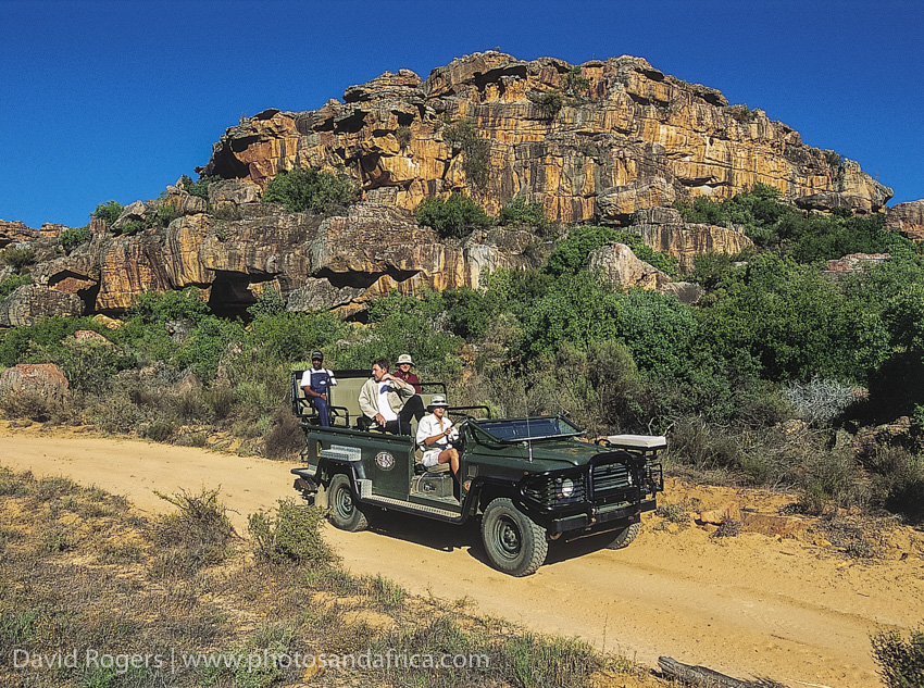 South Africa, Western Cape, Bushmanskloof, game drive vehicle. from the book Safari in Style Southern Africa. © David Rogers/iAfrica