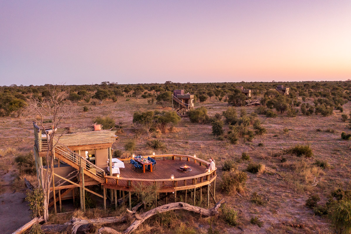 Skybeds at Khwai Private Reserve, by David Rogers