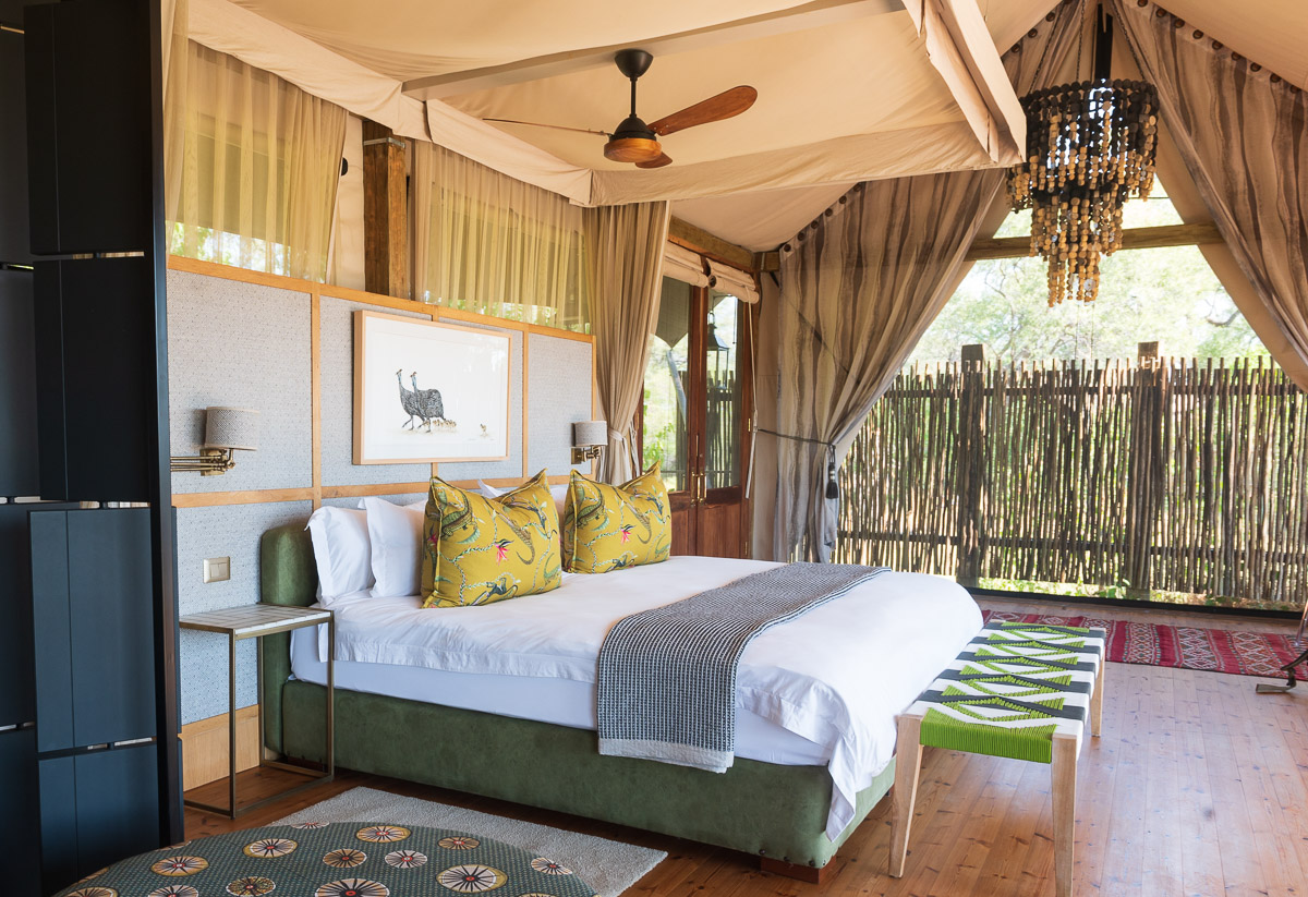 Luxurious rooms at Tuludi, Khwai Private Reserve, David Rogers
